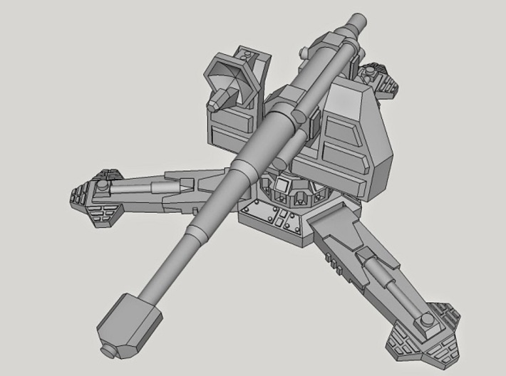 28mm Sci-Fi Antitank Gun (with 6 Barrels!) 3d printed