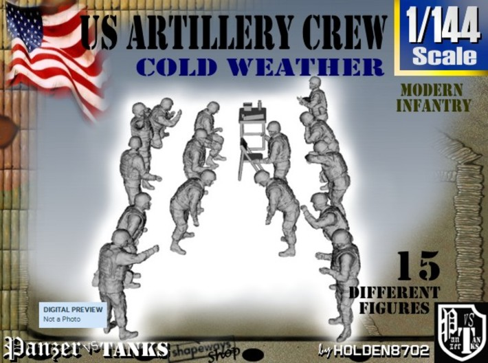 1-144 US Artillery Crew Cold Weather 3d printed