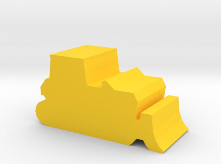 Game Piece, Bulldozer 3d printed