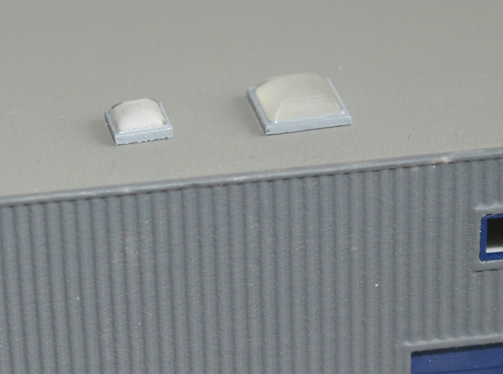 N scale Rooftop Detail Set 27pc 3d printed Skylights size 1 and 2