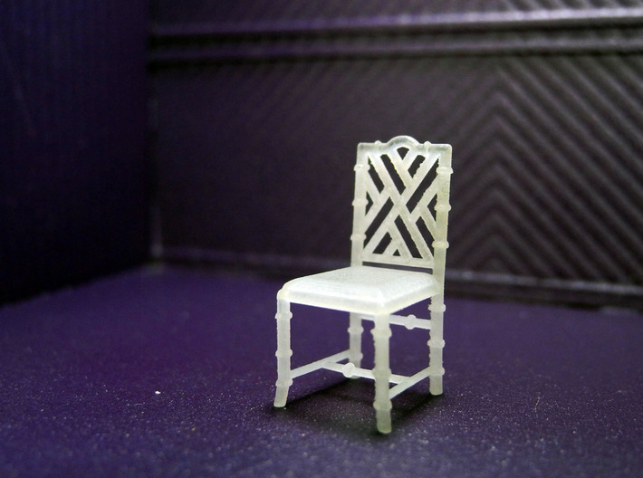 1:48 Chinese Chippendale Chair - Set of 4 3d printed