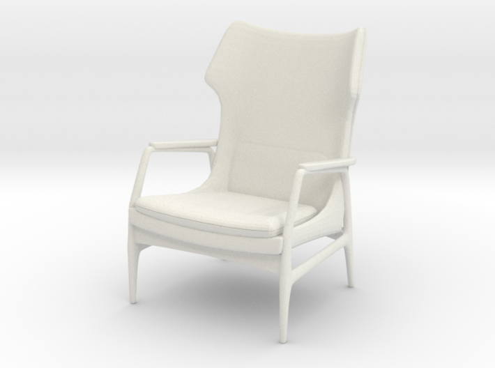 1:24 Mid-Century Lounge Chair 3d printed