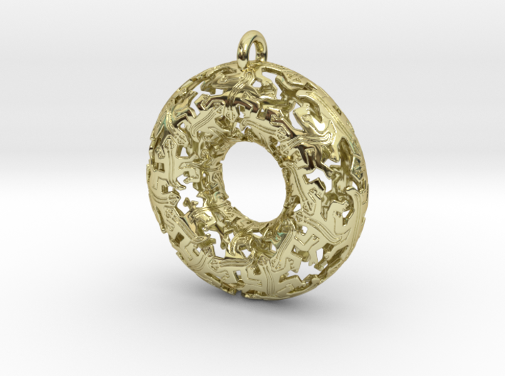 Reptiles Large Pendant - 2.5 Inch. 3d printed See photo.