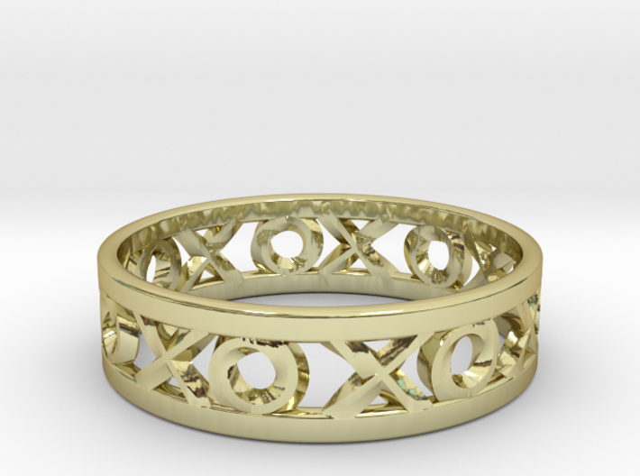 Size 7 Xoxo Ring 3d printed
