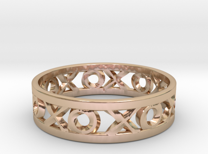 Size 12 Xoxo Ring 3d printed