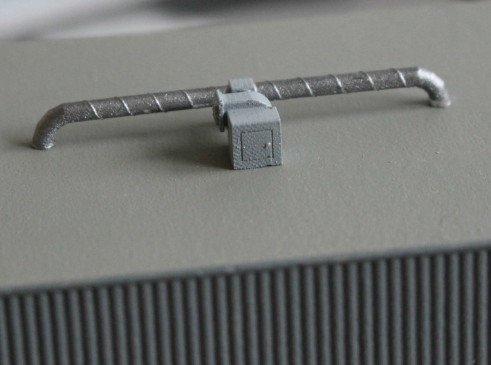 N Scale Firehouse Rooftop Details 3d printed Air extraction fan with ducts