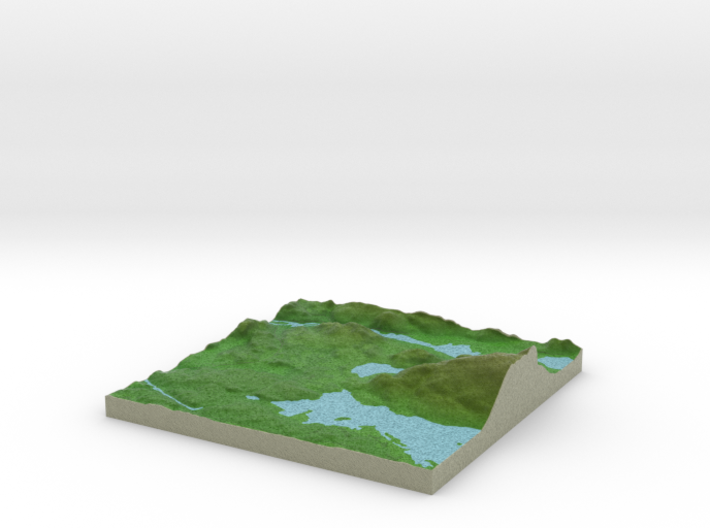 Terrafab generated model Fri Oct 23 2015 12:47:29 3d printed