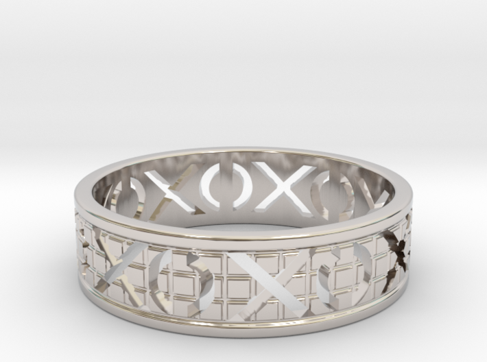 Size 6 Xoxo Ring A 3d printed