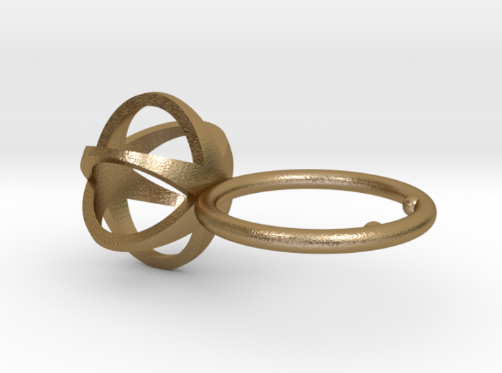3D MINI STAR GLITZ SPARKLE RING - size 8 3d printed