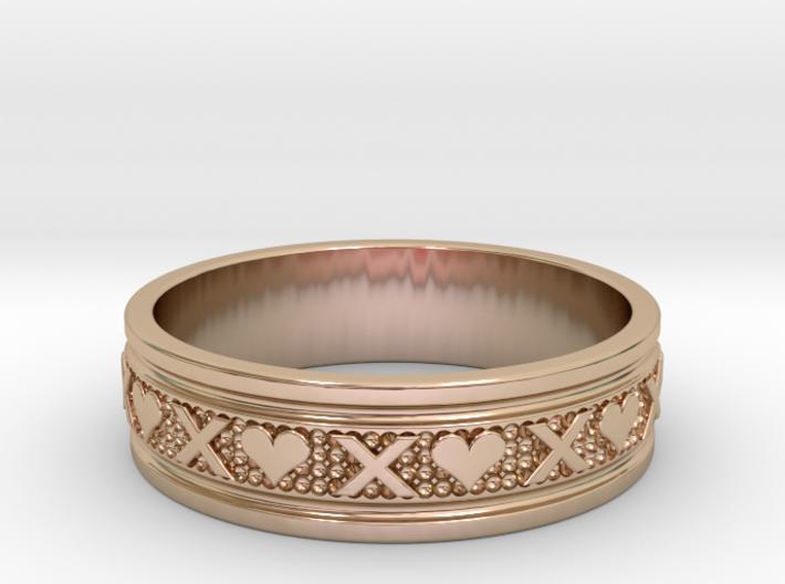 Size 8 Xoxo Ring B 3d printed