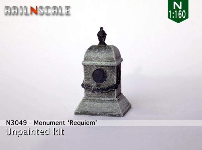 Monument Requiem (N 1:160) 3d printed