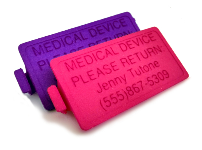 OmniPod PDM Personalized Battery Cover  3d printed Pink & Purple