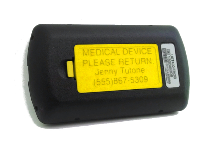 OmniPod PDM Personalized Battery Cover  3d printed Yellow