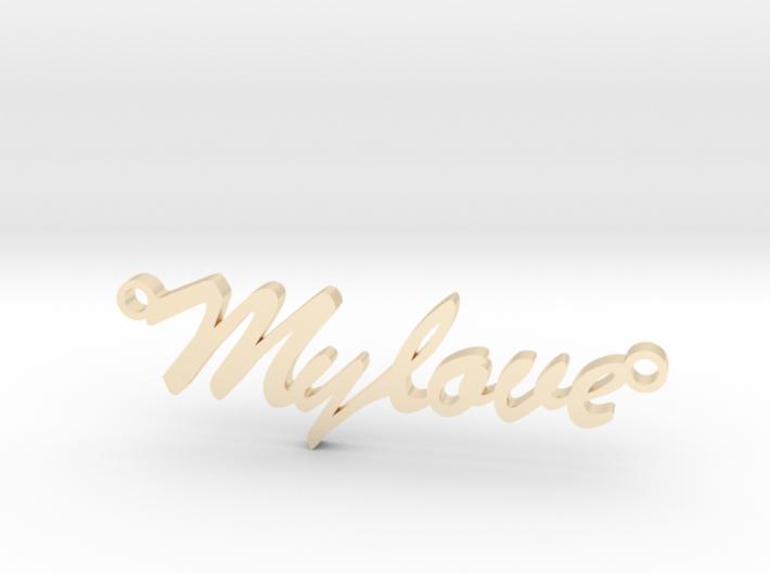 "Pendant ""my love"" 3d printed"
