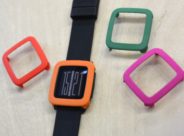Pebble Time Steel - cover / bumper 3d printed