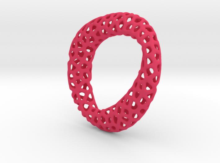 Voronoi pendant mobius 3d printed