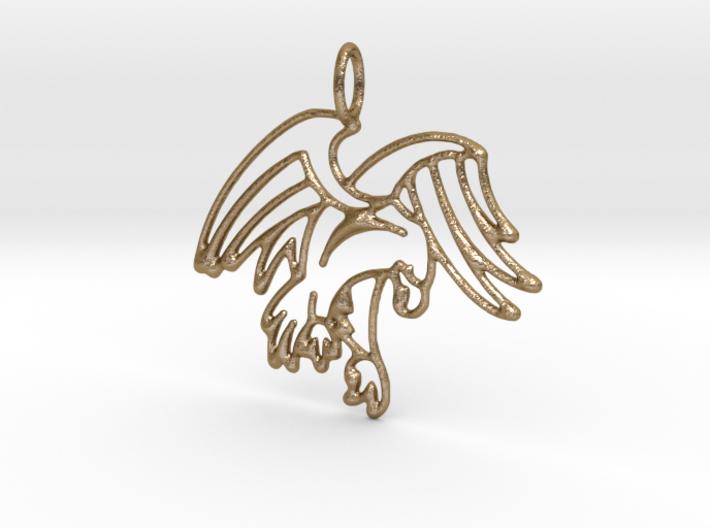 Tribal Eagle Pendant 3d printed