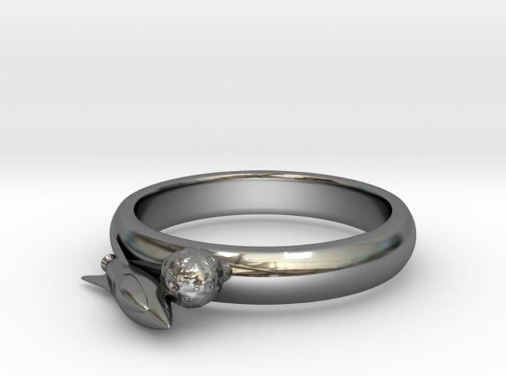 Moon Rocket Ring S 6 2015 3d printed