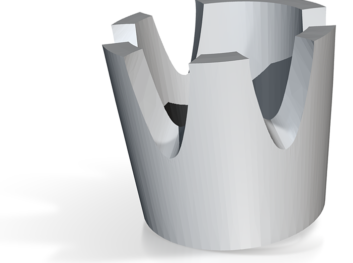 Skull Ring Bezel 3d printed