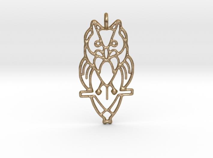 Night Owl Pendant 3d printed