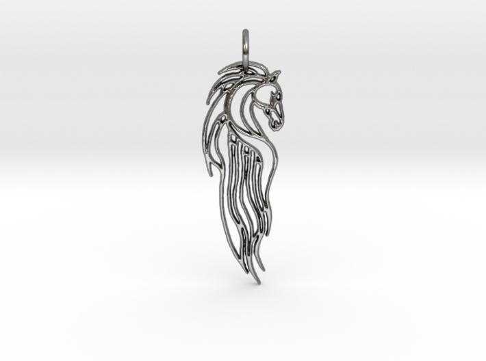 Rohan Horse Pendant 3d printed
