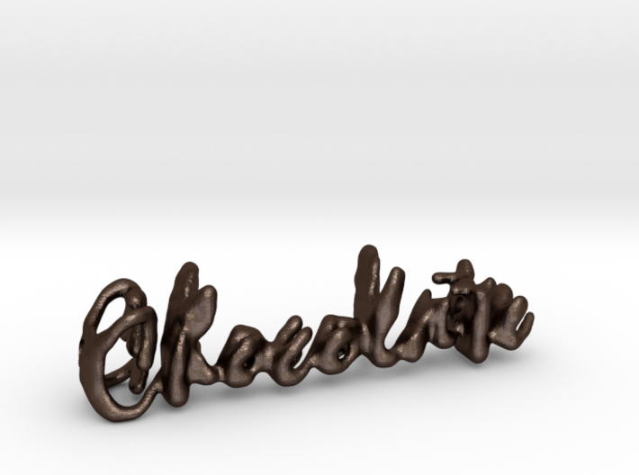 Chocolate Chocolate Necklace 3d printed