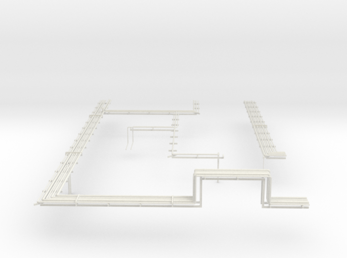 02 Oil Refinery RightPrint Layout 3d printed
