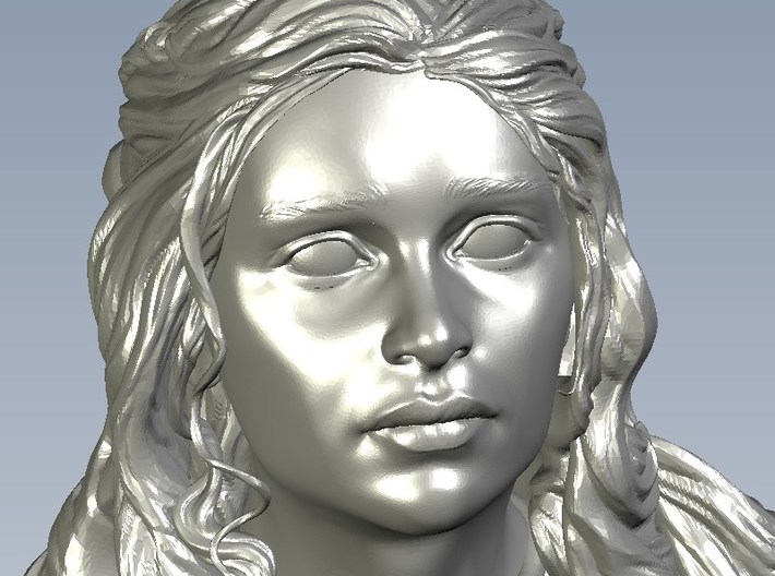 1/9 scale Daenerys Targaryen mother of dragon bust 3d printed