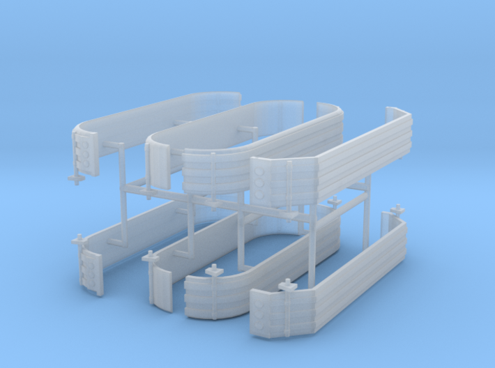 1/87th Triaxle fender set of four 3d printed