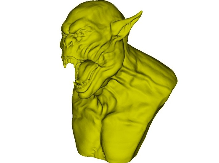 1/9 scale Orc daemonic creature bust Α 3d printed