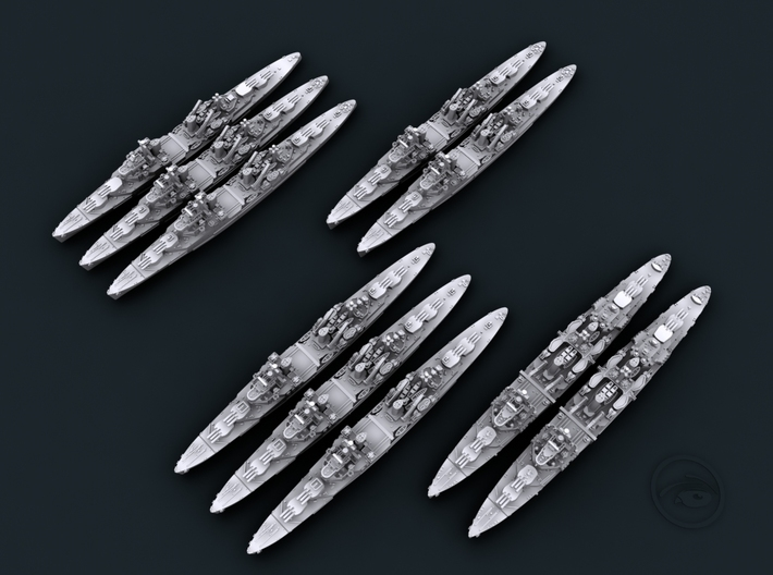 UK Town Class Light Cruisers 3d printed Computer software render