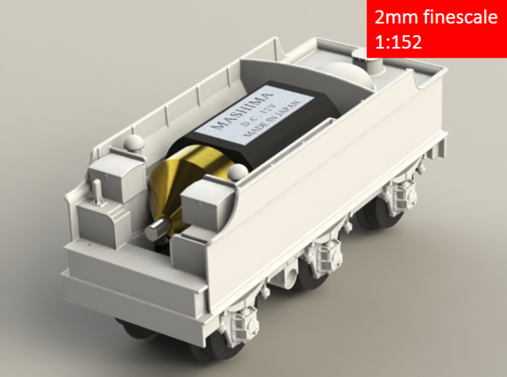 GWR Churchward 3500 tender, motor cutout, 2mm FS 3d printed Rendering - front