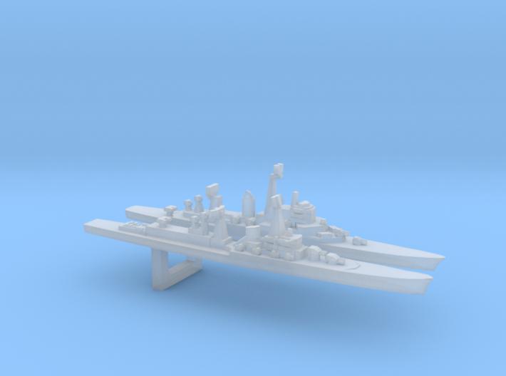 Early European Cold War Cruiser Set, 1/6000 3d printed