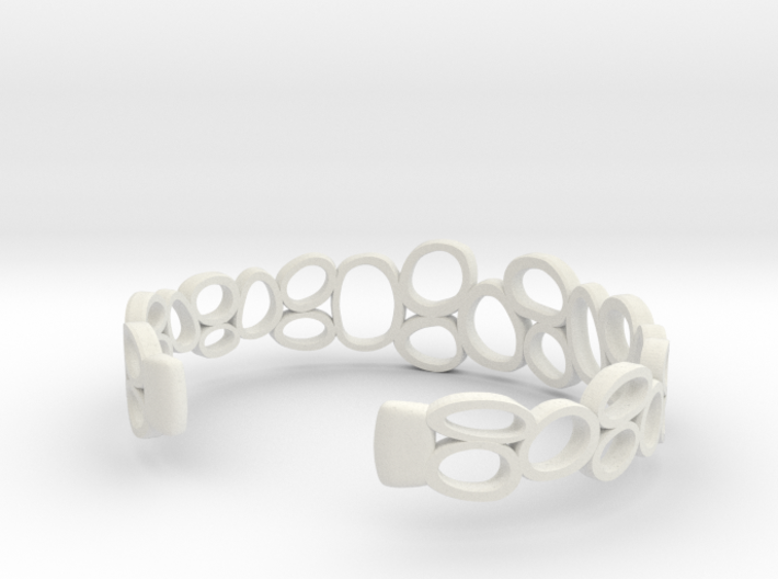 Rings and Things Bracelet 3d printed