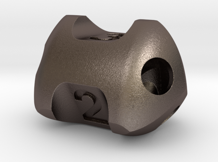 Three sided 'pepperpot' dice  3d printed