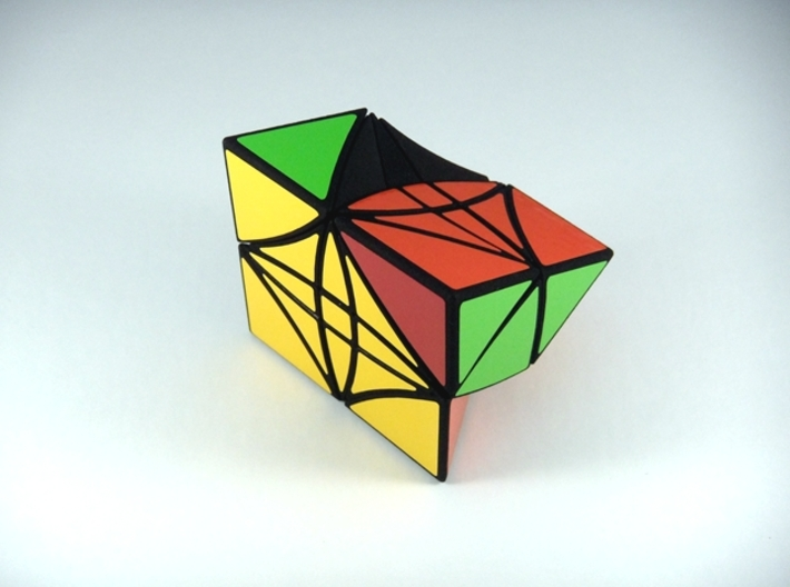 HeliPrism 9 Curvy Puzzle 3d printed One Turn