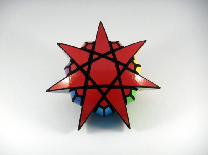 Star of The Seven Puzzle 3d printed View 2