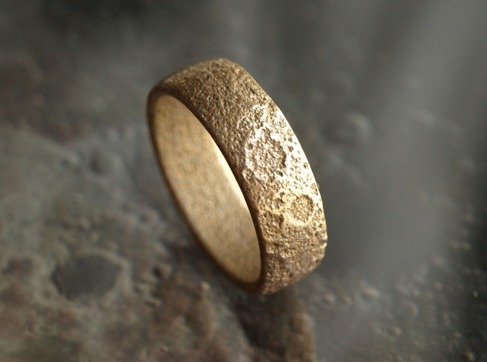 Moon Ring 3d printed Moon ring   Stainless Steel   different finishings