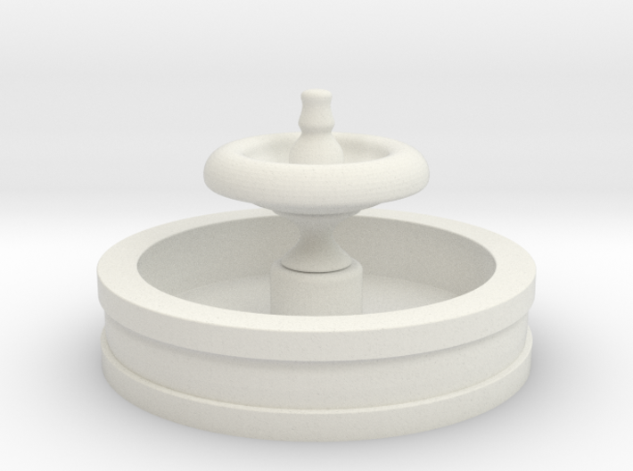 HO Scale Fountain 3d printed