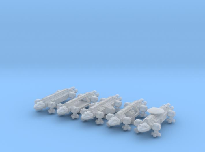 1/1000 Scale 2050 War Eagles X5 3d printed
