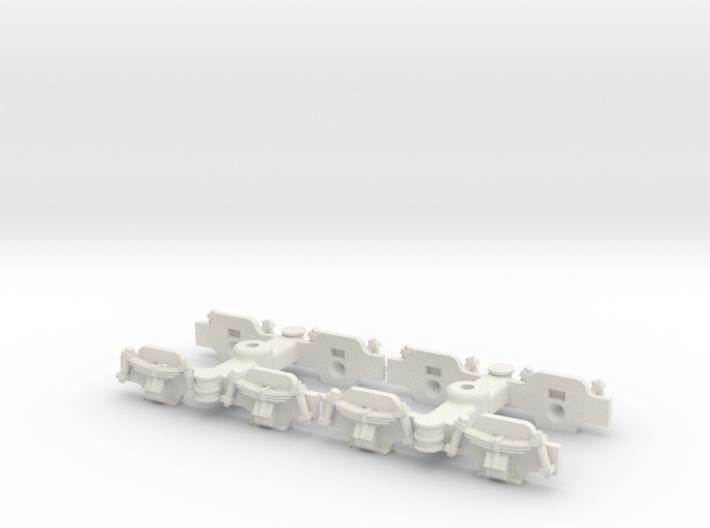 1:35 Decauville 60 cm coach bogies 3d printed
