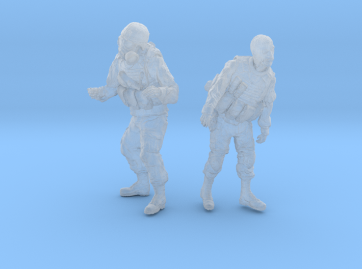 1-35 Military Zombie Set 6 3d printed