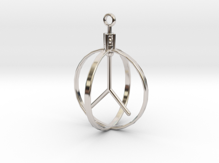 Peace Pendant (Spinning center) 3d printed