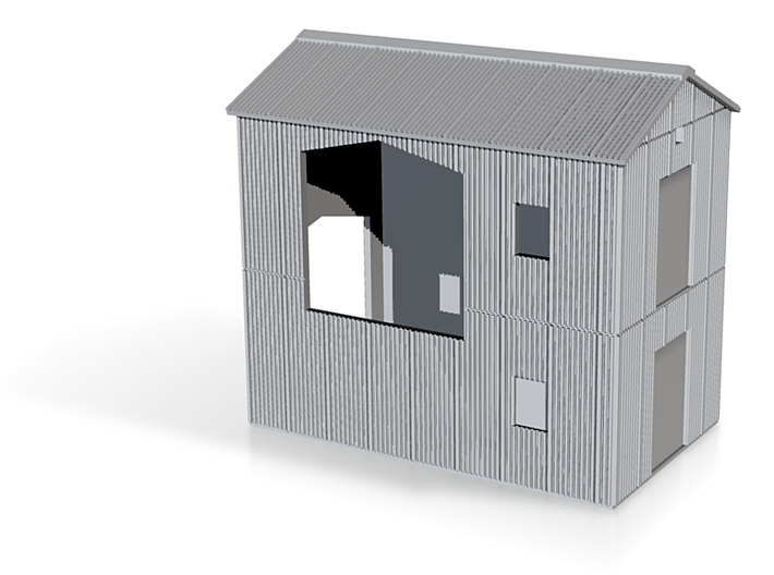N scale junction house (left) for coal conveyor 3d printed
