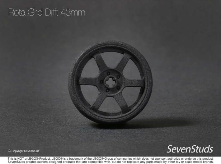 Drifting Wheel 43mm 3d printed