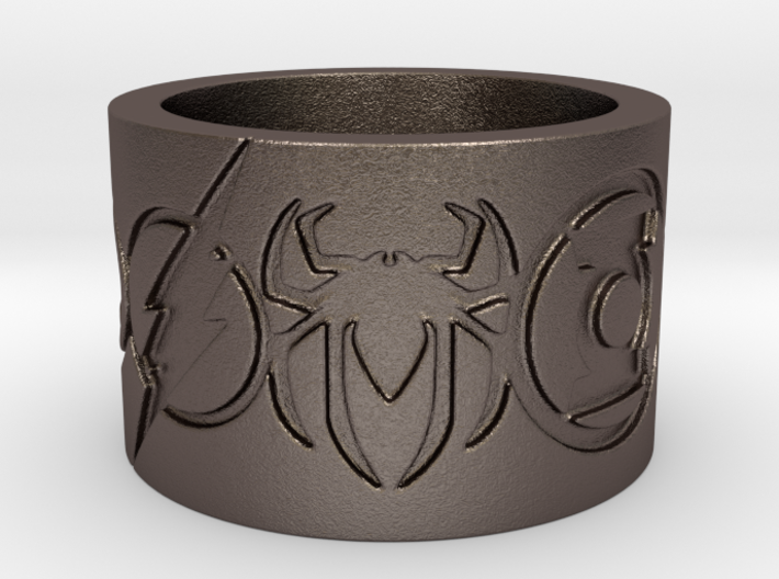 Superheros Engraved Ring 3d printed