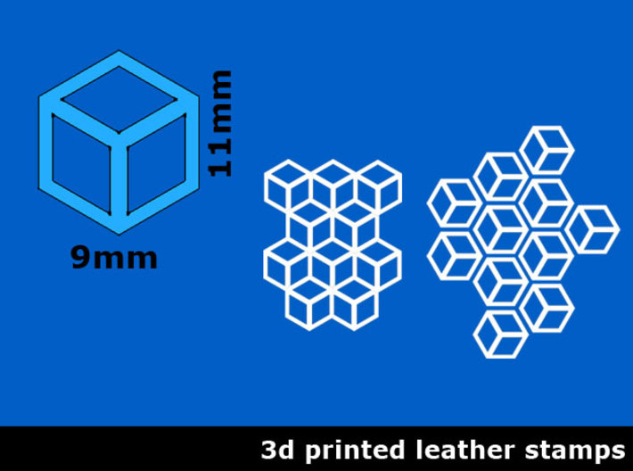 Leather stamp 6, honeycomb leathertool design 3d printed
