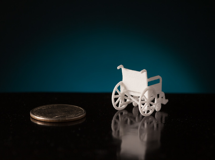 1:48 Wheelchair 3d printed
