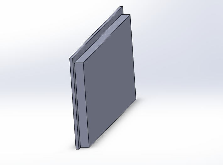 Double Car Residential - Square Window 3d printed
