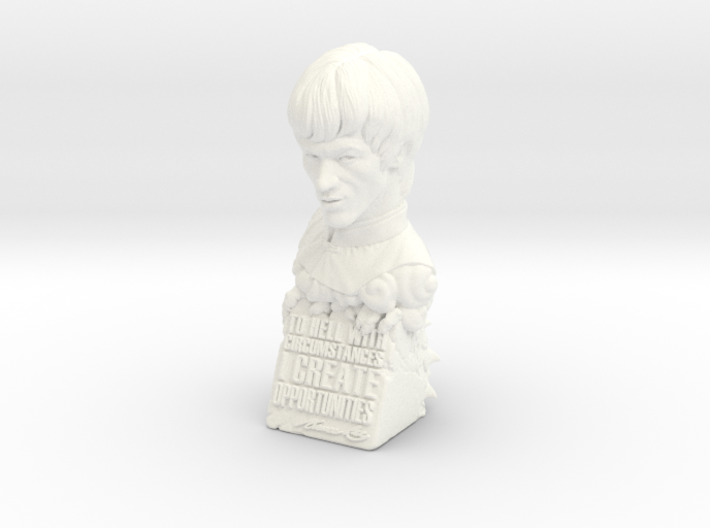 Bruce Lee Bust with Quote, Size M 3d printed